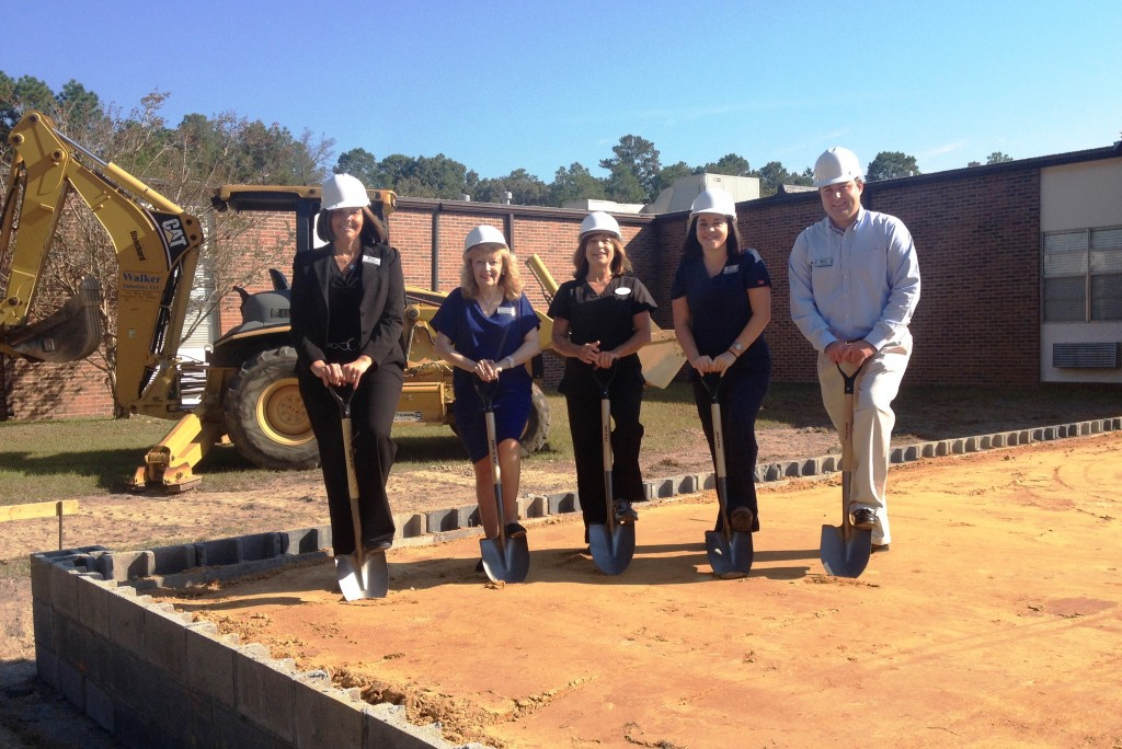 Left to Right: Kelly Pruitt, Executive Director; Cheri Truluck, Rehab Director; Warner Rogers, Rehab Manager; Anna Byrd, Director of Nursing; Tyler Lofe, Assistant Executive Director
